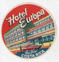 Hotel label luggage Costa Rica  .